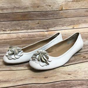a027f42f136c Bandolino Shoes - Bandolino Ballet Flats Leather Flower Toe 8M